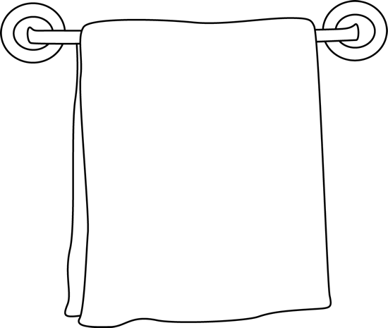 banner library library Towel clipart black and white. On a rack objects