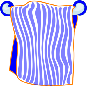 download Bath Towel Blue Clip Art at Clker