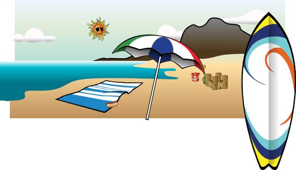 clip art transparent Beach Umbrella Clip Art at Clker