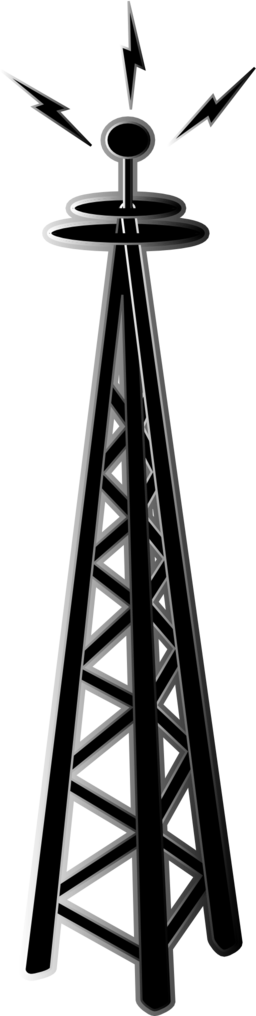 black and white stock transmission tower icon