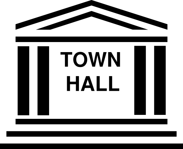banner stock Town Hall Clip Art at Clker