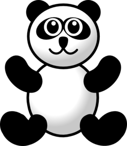 banner stock Panda clip art at. Toy clipart
