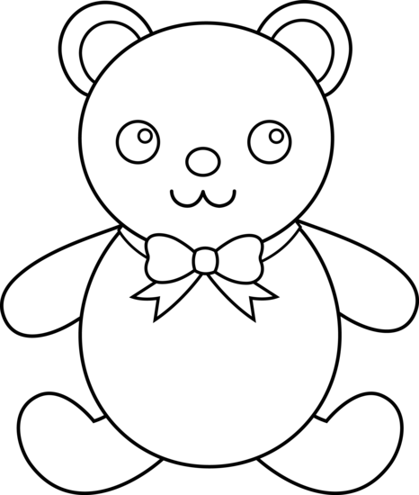 vector library download Teddy Bear Line Drawing at GetDrawings