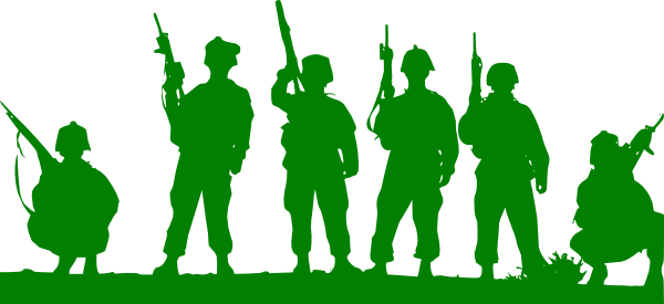 image free stock Green Toy Soldiers Clip Art at Clker