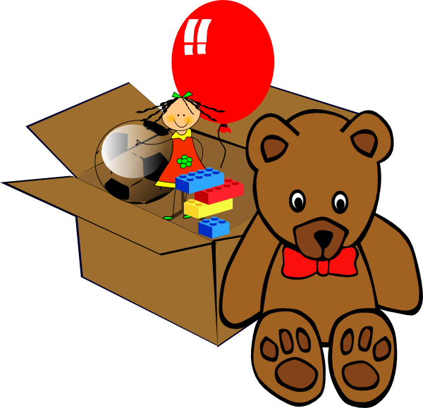 clip art stock Boxes clipart animated. Box full of toys