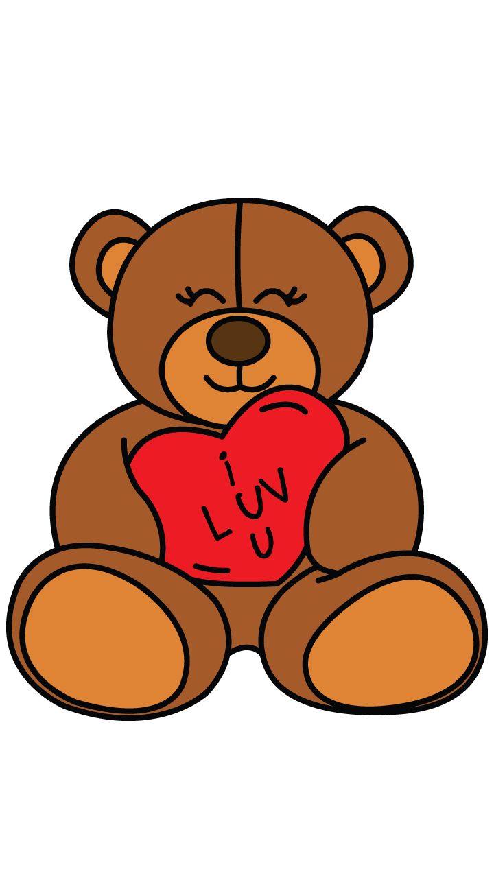 svg library How to draw a. Valentine drawing cute animal