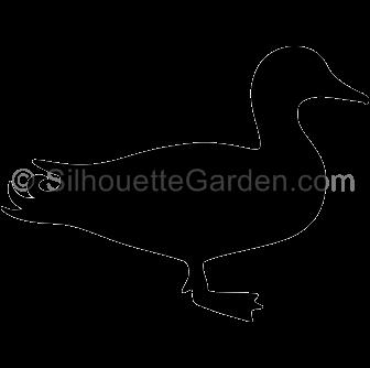 picture library Duck silhouette clip art