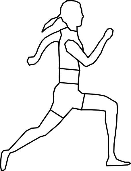 image free stock Track Runner Drawing at GetDrawings