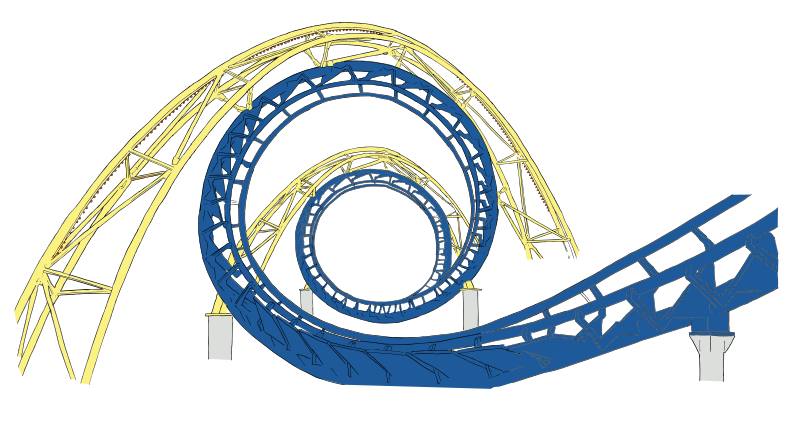 transparent stock Vector 1 psd. Free roller coaster tracks