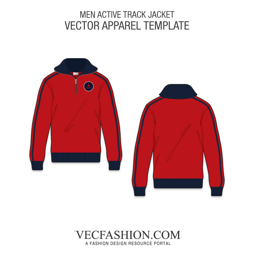 clipart freeuse Active Track Jacket Template