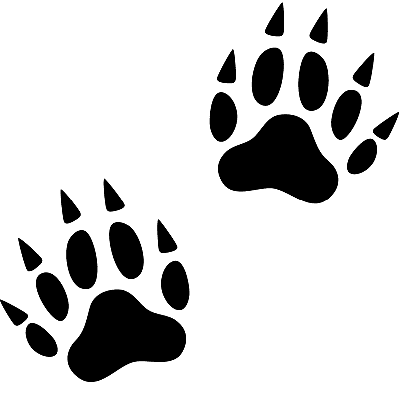 svg free library Animal footprints clipart. Wolverine tracks rubber stamp