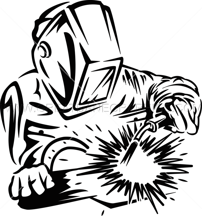 graphic transparent stock Trade clipart mig welding. Welder black and white