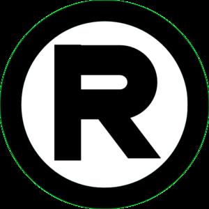 jpg royalty free library Trademark vector. Registered black clip art.