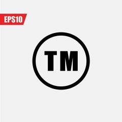 clipart stock Registered icon illustration sign. Trademark vector.