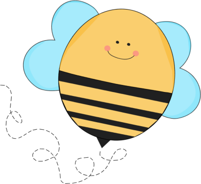 clip library Trail clipart. Bee flying