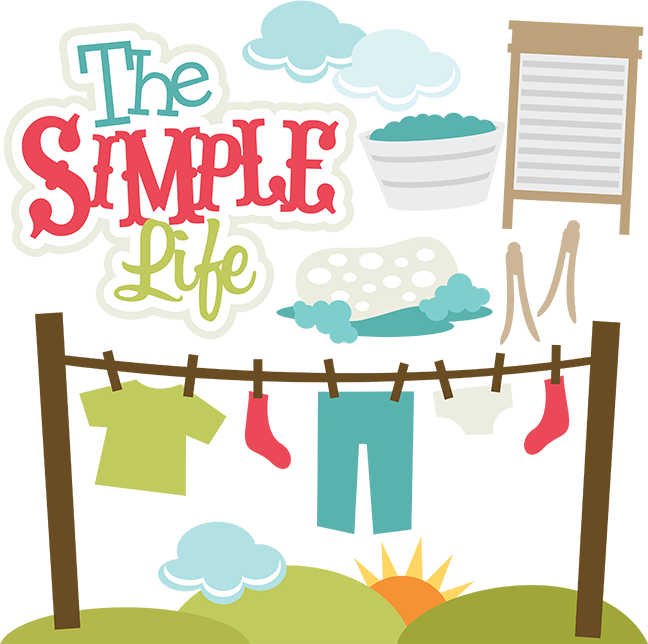 clip royalty free stock The simple life files. Laundry svg