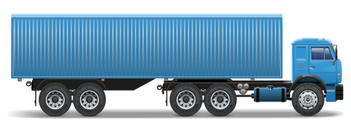graphic black and white download Vector container truck. Trailer icons clipart the