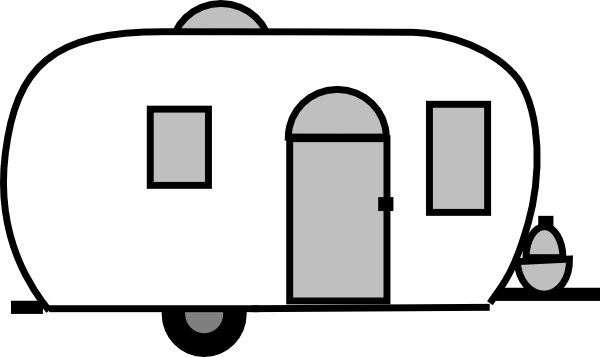 graphic stock Camper clipart black and white. Gallery airstream trailer drawing