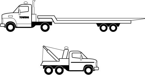 jpg royalty free Flatbed Truck Clip Art at Clker