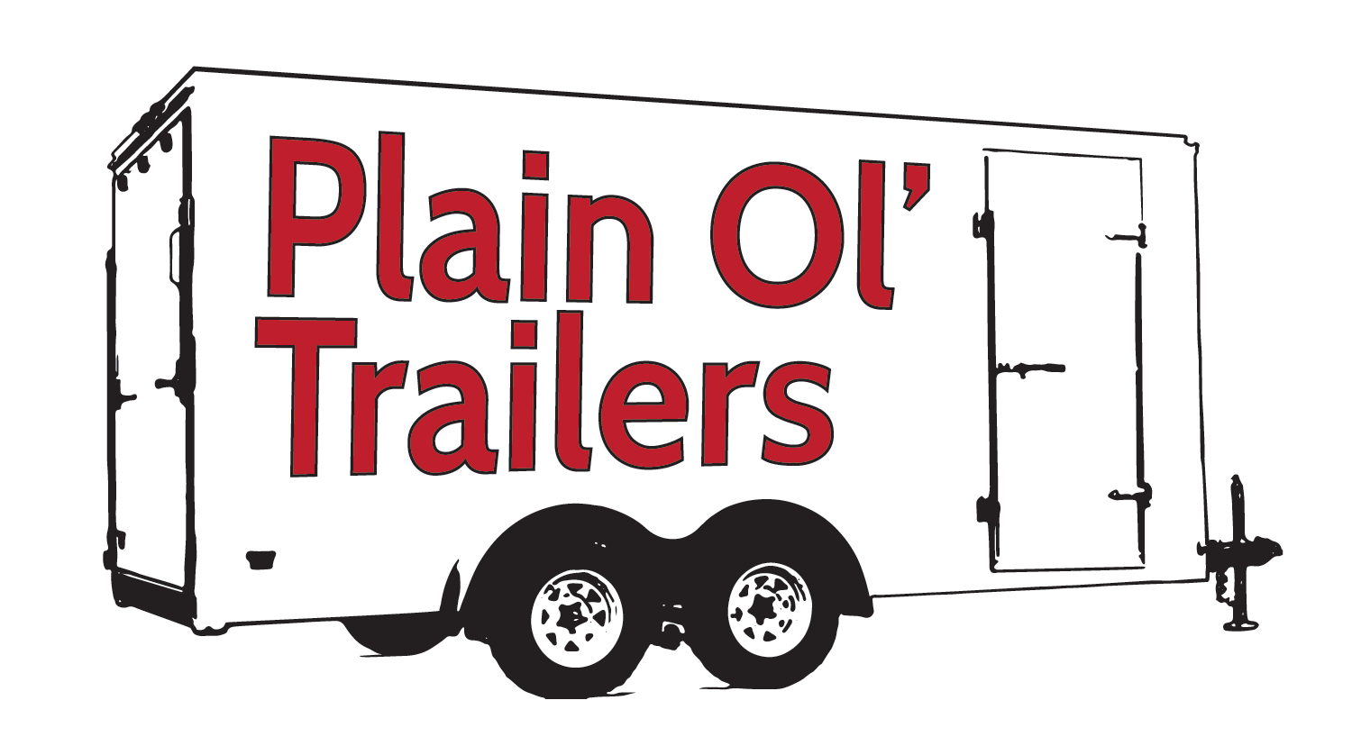 image black and white library Trailer clipart trailer line. Enclosed trailers for sale