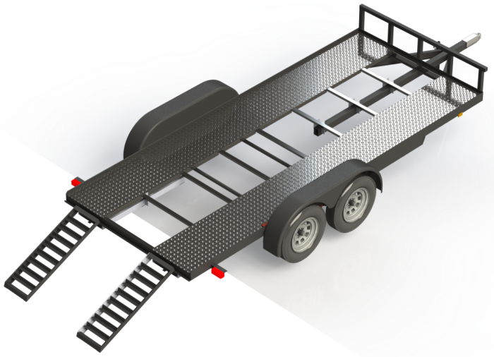 picture royalty free DIY Car Trailer