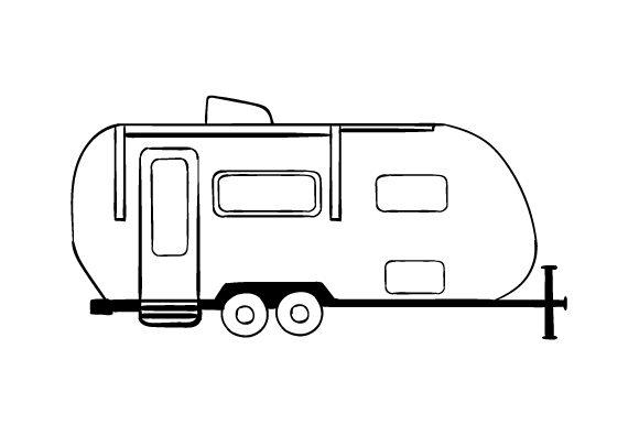 image transparent stock Travel Trailer Line Art Drawing