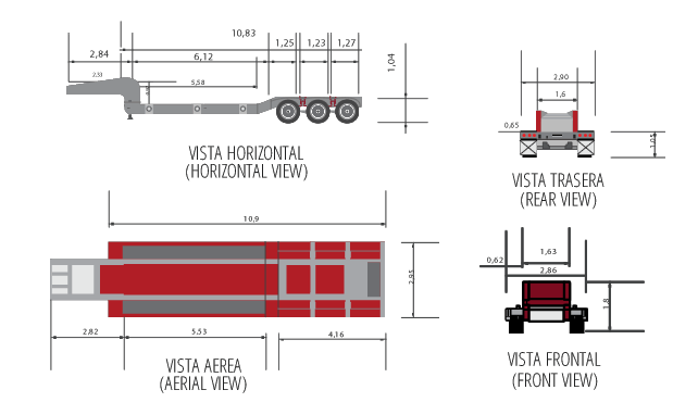 vector stock  mexican company axis. Trailer drawing lowboy
