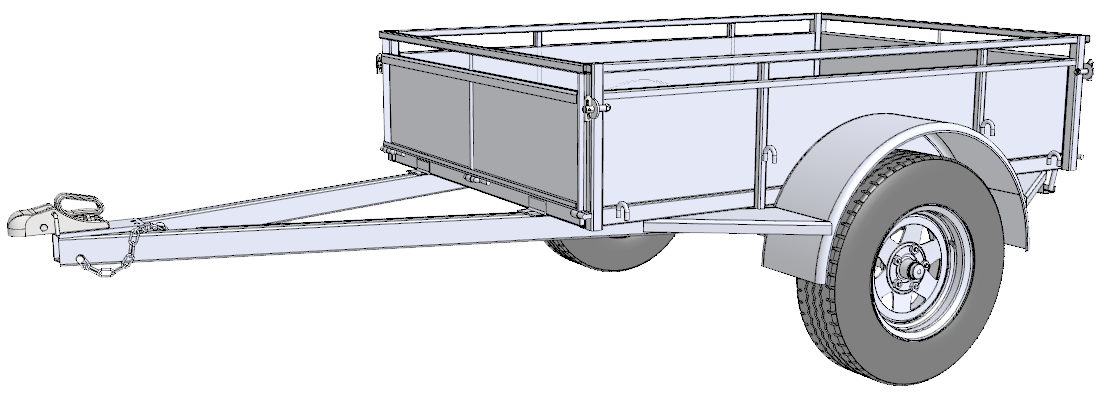 jpg black and white stock Trailer Drawing at GetDrawings