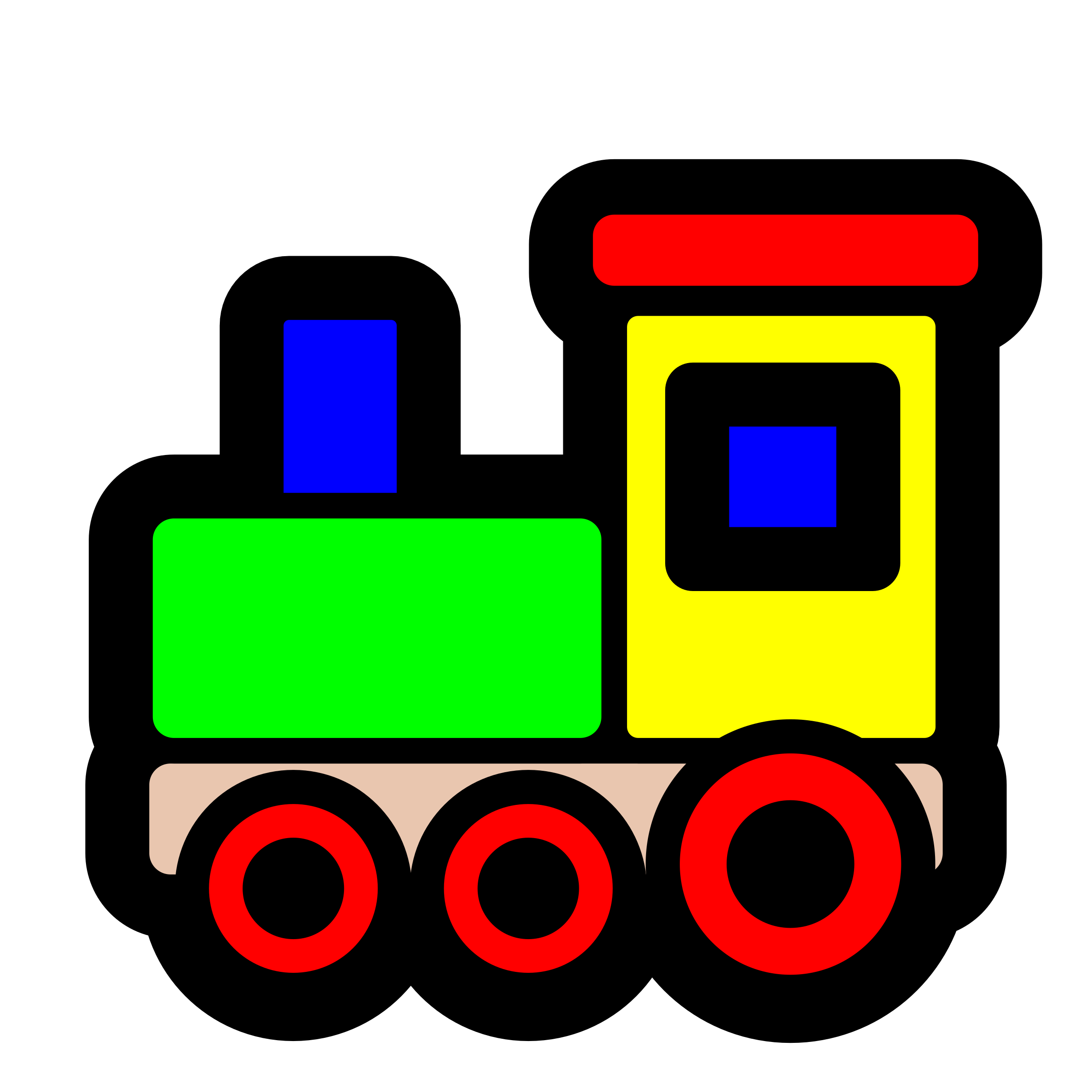 graphic black and white stock Toy icon big image. Train clipart.