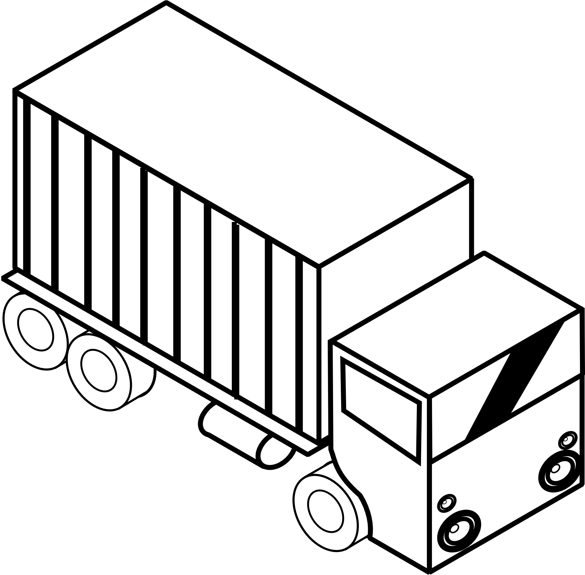 picture library Engine clipart black and white. Truck panda free images