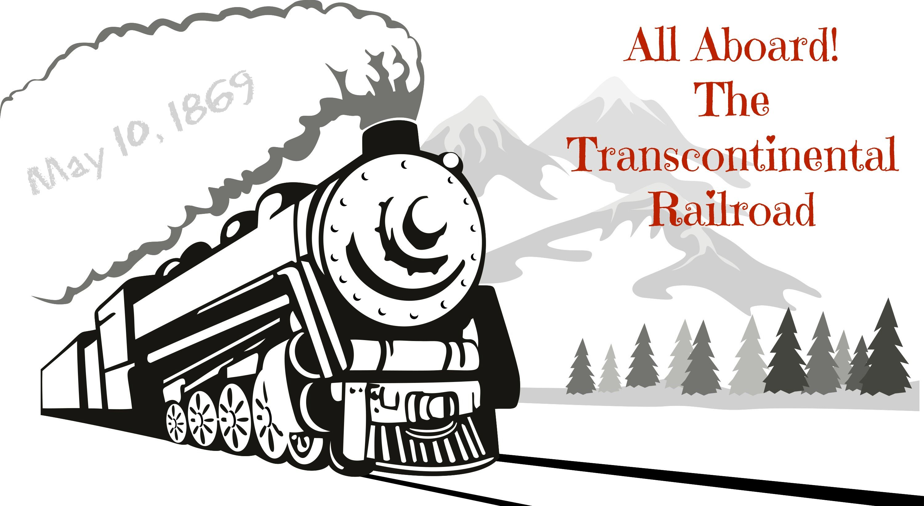 picture royalty free All aboard the writing. Transcontinental railroad clipart