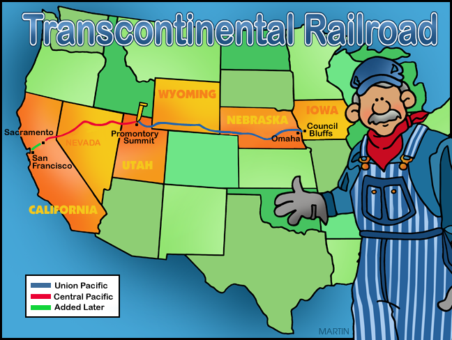 picture transparent library Inventors and inventions clip. Transcontinental railroad clipart