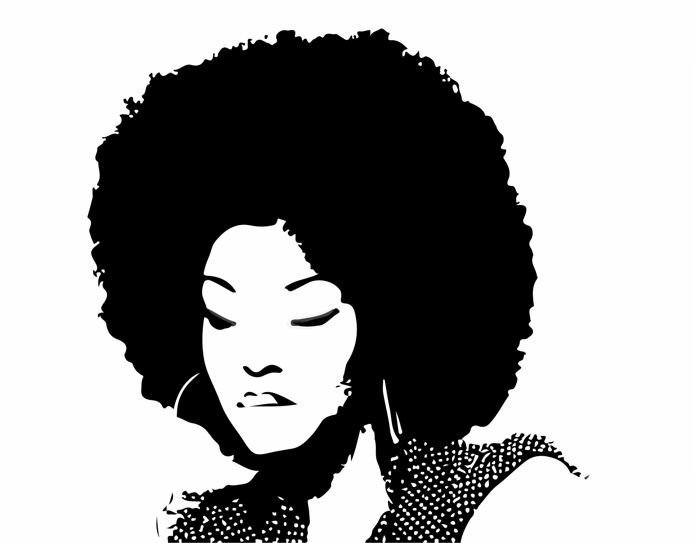 png free stock Clipart lady free for. Transparent afro vector