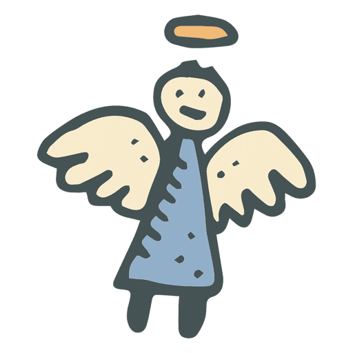 svg transparent download Hand drawn icon transparent. Vector angel cartoon