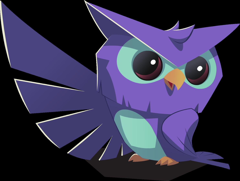 graphic transparent Image purple and blue. Transparent owl animal jam