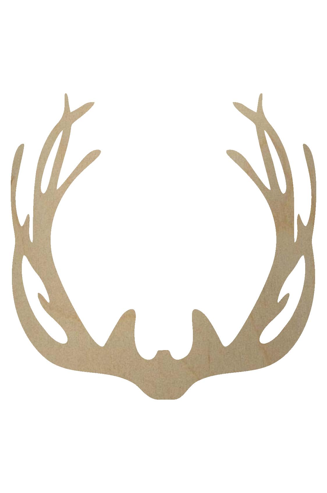 banner library library Wooden Deer Antler Shape