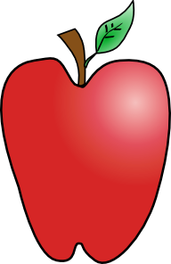 picture black and white Vector apples animated. Cartoon apple clip art