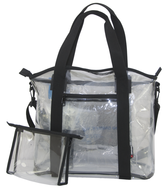 clipart black and white library Transparent bags. Amaro premium clear stadium.