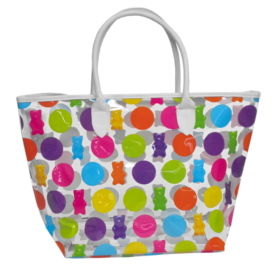 free download Transparent bags tote. Polka dot gummy bears.