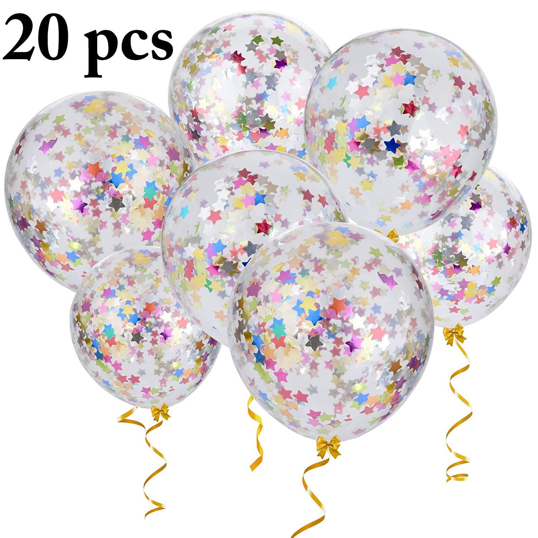 transparent Outgeek confetti balloons pcs. Transparent balloon