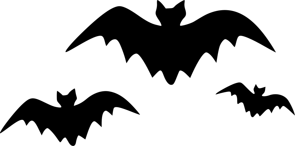 banner transparent Bats Dreadful Evil Bats Fearful Halloween Bats Horrible Scary Svg