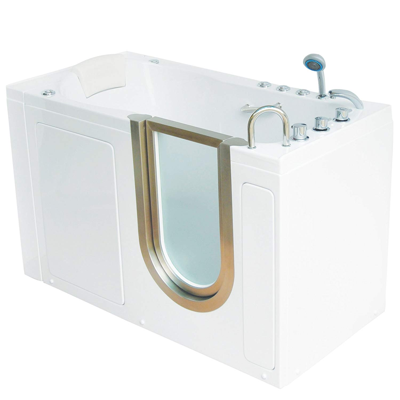 clip art stock Dual massage acrylic walk. Transparent bathtub deluxe.