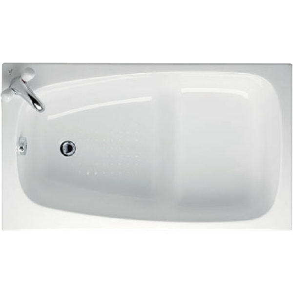 image Transparent bathtub small plastic. Ideal standard space bath