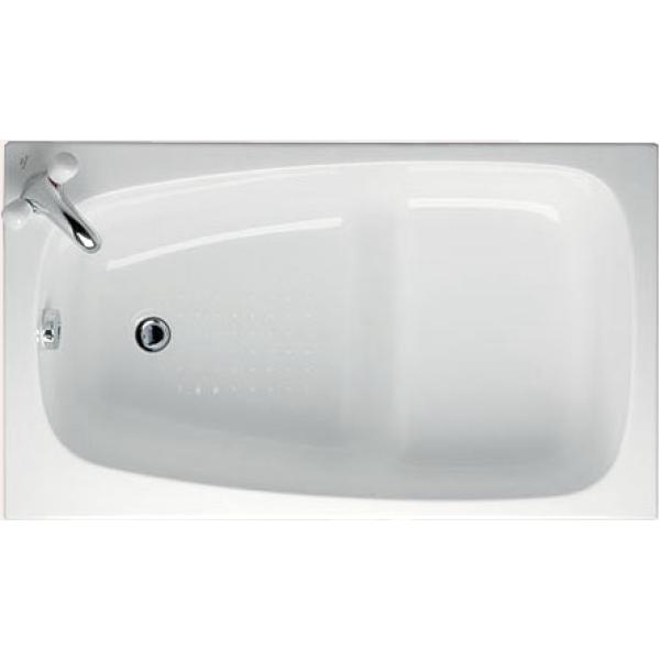 image Transparent bathtub small plastic. Ideal standard space bath.