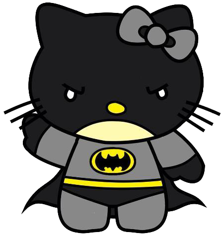 picture freeuse Hello Kitty Batman Cute Png Transparent