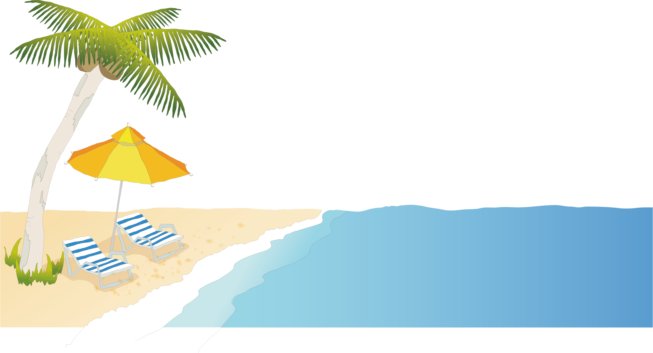 graphic royalty free download Beach Cartoon