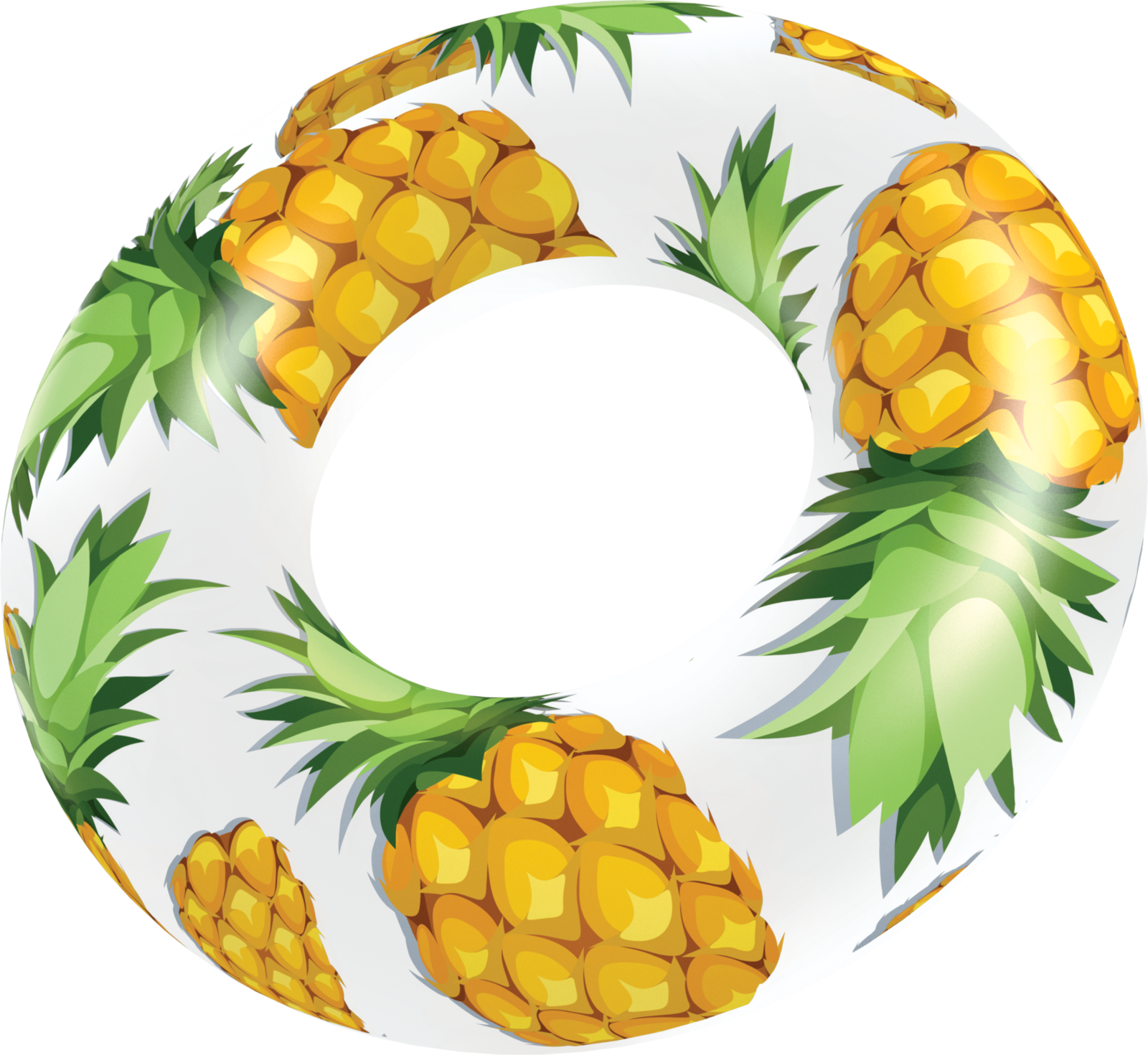 clip royalty free stock Clear pineapple pool tube. Beach transparent fruit