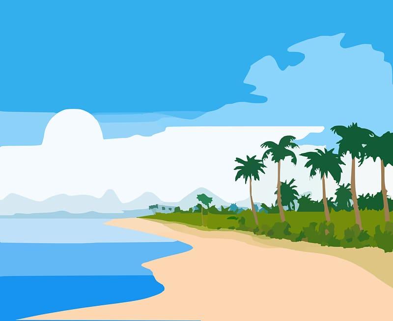 svg transparent library Beach transparent hawaiian. Beaches sandy shore cartoon