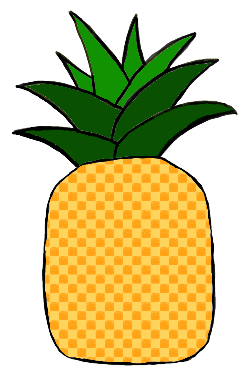 png black and white library Beach transparent fruit. Vintage summer pineapple pi