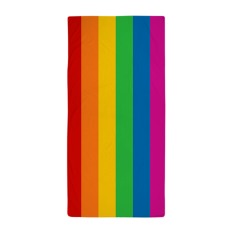 png stock Rainbow Stripe Beach Towel by rainbowthree